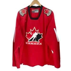 Nike Team Canada Jersey Hockey XL Red Black Sports